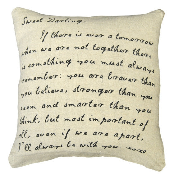 White - Sweet Darling Pillow - GDH | The decorators department Store
