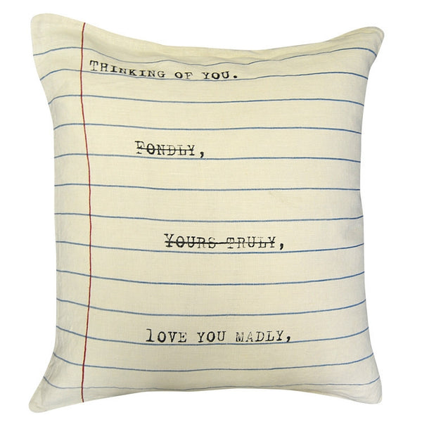 Natural - Thinking Of You Pillow - GDH | The decorators department Store