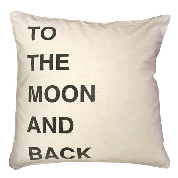 White -To The Moon and Back Pillow - GDH | The decorators department Store