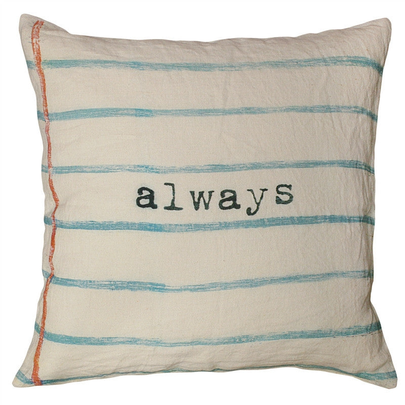 Aqua - Always Pillow - GDH | The decorators department Store
