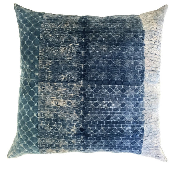 Blue - Velvet Tapestry Pillow - GDH | The decorators department Store