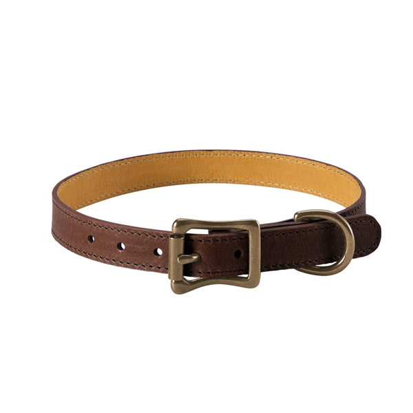 A Dog Collar Italian Leather | Brown - GDH | The decorators department Store
