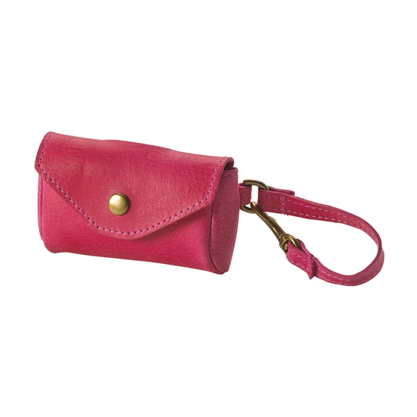 Dog Waste Bag Holder Italian Leather | Pink
