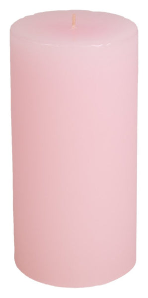 Classic Hurricane Pillar Candles (Pair) | Petale Pink