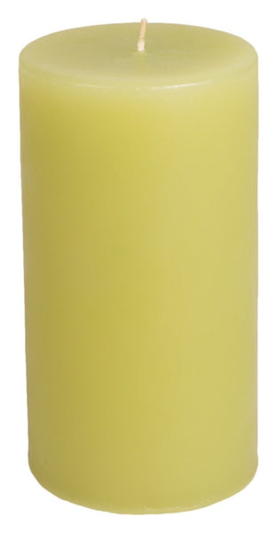 Classic Hurricane Pillar Candles (Pair) | Pistachio