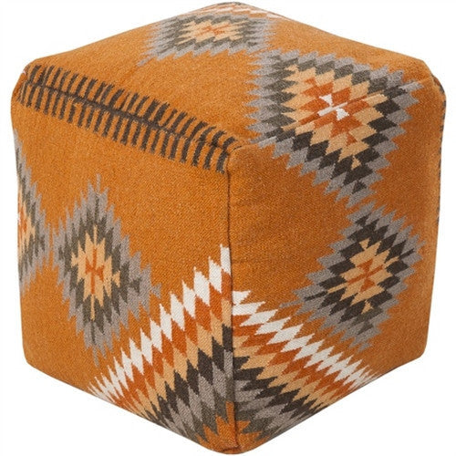 Kilim Pouf | Orange - GDH | The decorators department Store