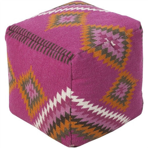 Kilim Pouf | Purple - GDH | The decorators department Store