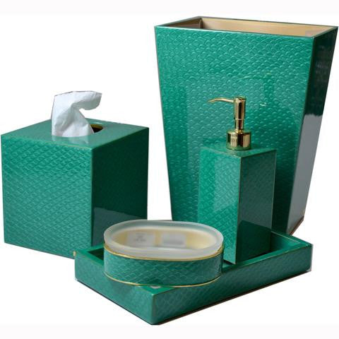 Mike and Ally Pacific Bath Accessories - Emerald Gold