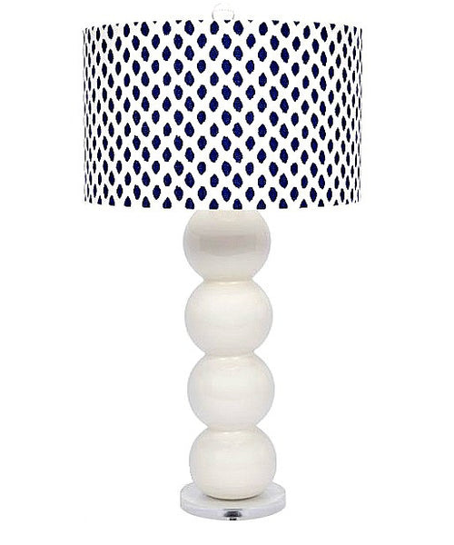 Palm Beach Blue and White Lamp