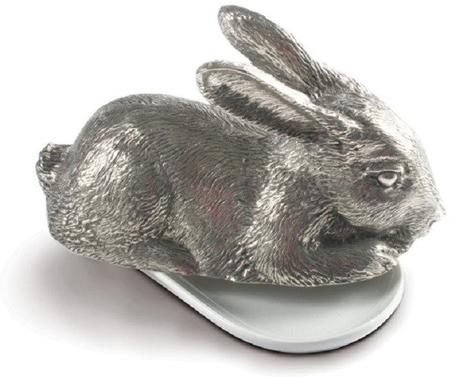 Pewter Rabbit Butter Dish