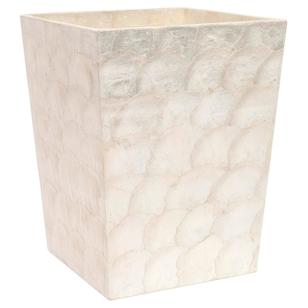 Andria Square Wastebasket | Pearl