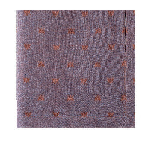 Api Coloniale napkins 22x22 inches S/4 | Navy Blue - GDH | The decorators department Store