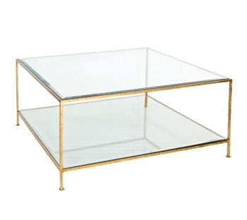 Quadro Square Gold Leaf Coffee Table - GDH | The decorators department Store