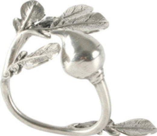 Pewter Napkin Rings Radish S/4 - GDH | The decorators department Store