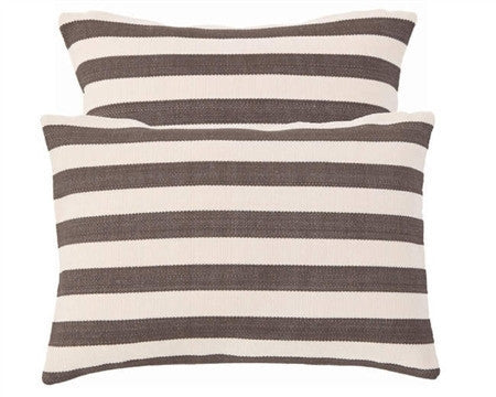 Trimaran Stripe Indoor Outdoor Pillow | Charcoal - GDH | The decorators department Store