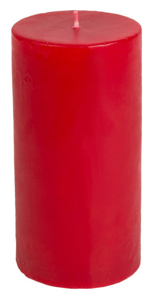 Classic Hurricane Pillar Candles (Pair) | Red