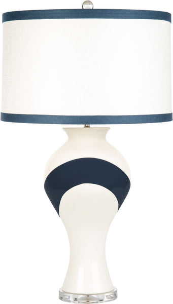 Navy Adair Table Lamp by Libby Langdon