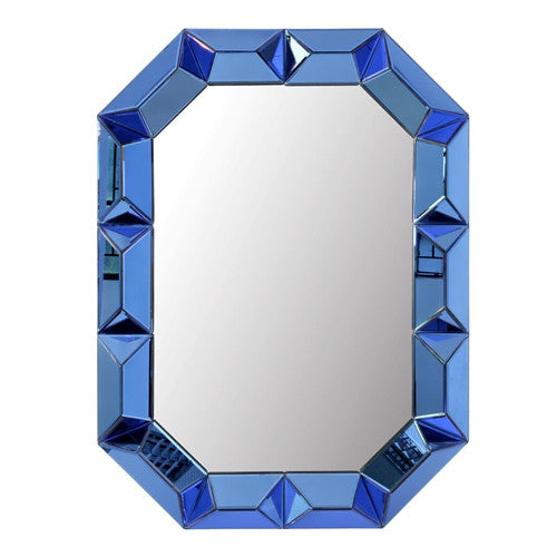 Romano Wall Mirror | Blue - GDH | The decorators department Store