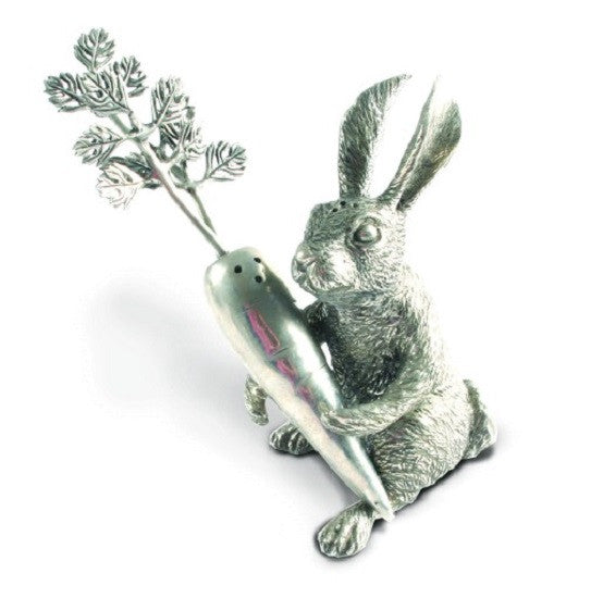 Pewter Rabbit and Carrot Salt and Pepper