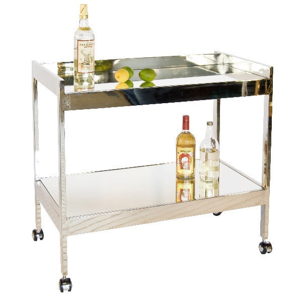World's Away Roland Bar Cart-Nickel - GDH | The decorators department Store