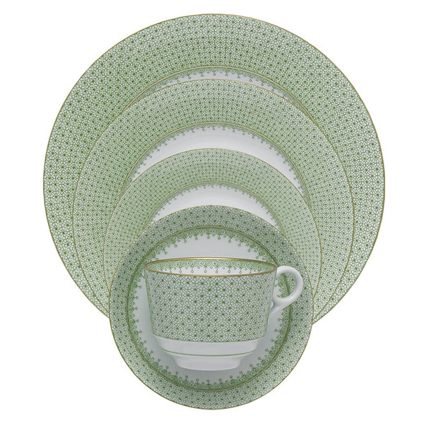 Mottahedeh Green Apple Lace Dinnerware Collection - GDH | The decorators department Store - 1