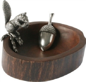Squirrel Nut Bowl w/ Acorn Scoop | Vagabond House - GDH | The decorators department Store