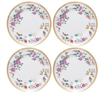 Mottahedeh Lowestoft Garden Dessert Plates | Set of 4 - GDH | The decorators department Store