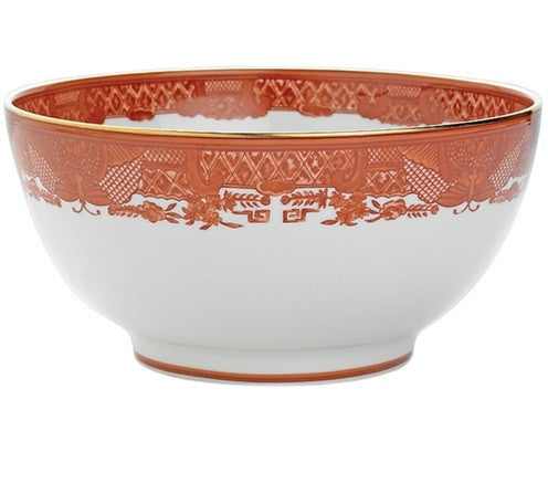 Mottahedeh Fitzhugh Cinnabar Large Salad Bowl - GDH | The decorators department Store
