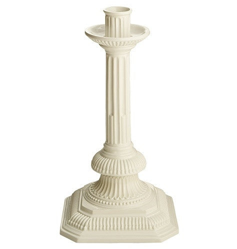 Square Sheffield Creamware Candlestick by Mottahedeh - GDH | The decorators department Store