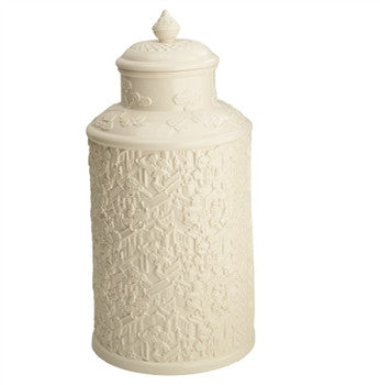 Mottahedeh Wall of China Creamware Covered Tea Jar - GDH | The decorators department Store