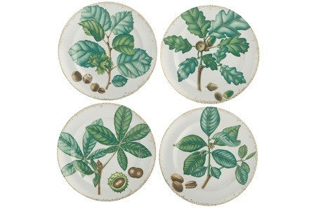 Mottahedeh Nut Leaf Dessert Plates | Set of 4 - GDH | The decorators department Store