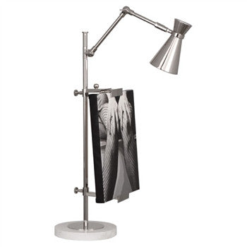Jonathan Adler Bristol Table Lamp with Frame | Nickel - GDH | The decorators department Store