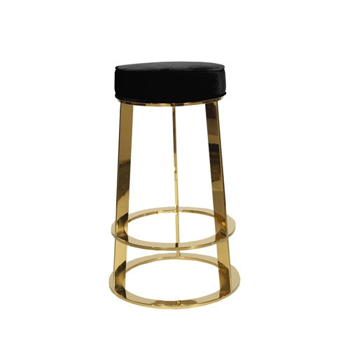 Samson Brass Counter Stool | Black - GDH | The decorators department Store