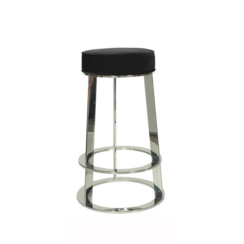 Samson Nickel Counter Stool | Black - GDH | The decorators department Store