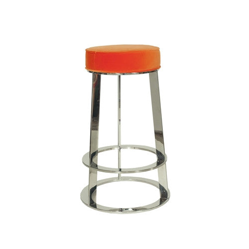 Samson Nickel Counter Stool | Orange - GDH | The decorators department Store
