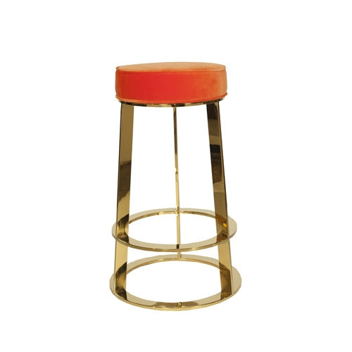 Samson Brass Counter Stool | Orange - GDH | The decorators department Store