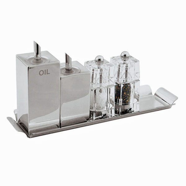 Sky Stainless Steel Cruet set, 5 pcs - GDH | The decorators department Store