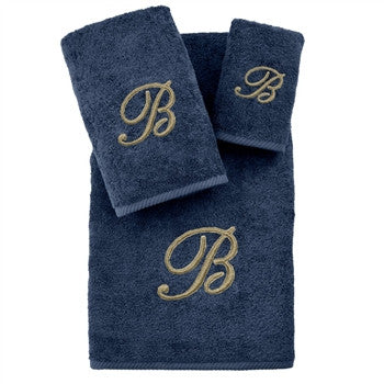 soft-twist-three-piece-monogrammed-towel-set-midnight-blue - GDH | The decorators department Store
