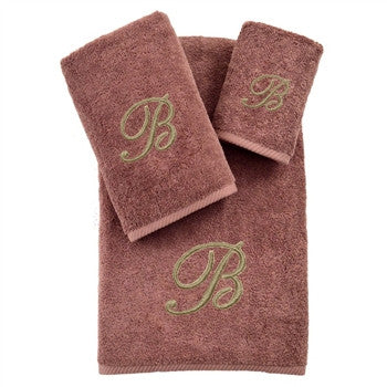 soft-twist-three-piece-monogrammed-towel-set-sugar-plum - GDH | The decorators department Store