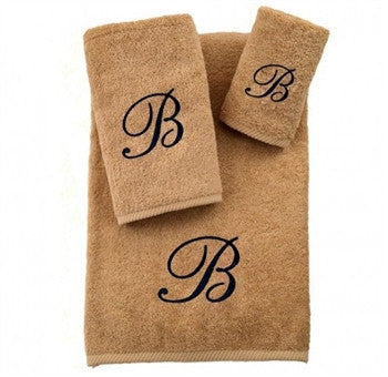 soft-twist-three-piece-monogrammed-towel-set-warm-sand - GDH | The decorators department Store