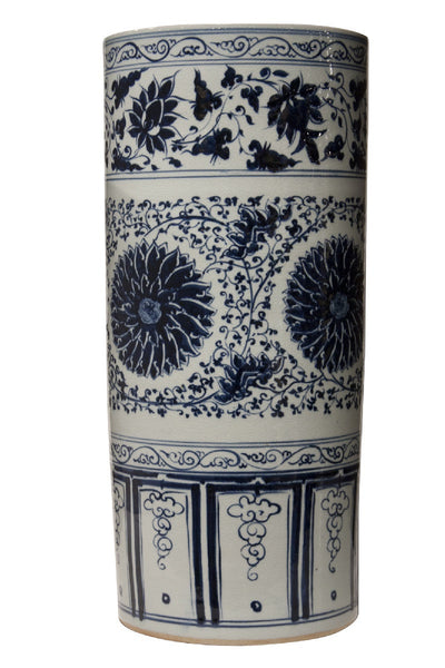 BLUE and WHITE UMBRELLA STAND