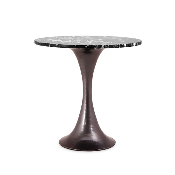 "STOCKHOLM BRONZE SIDE TABLE WITH 20"" TOP"