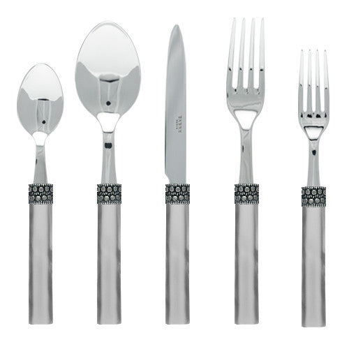Sabre Kathmandu 5 Piece Place Setting | Gray - CITY LIFE CATALOG