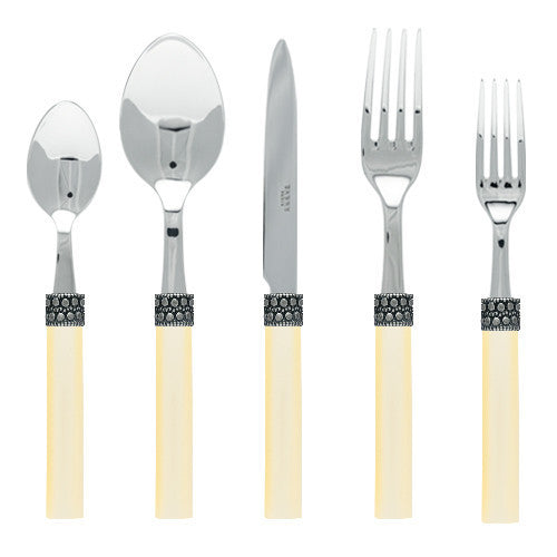 Sabre Kathmandu 5 Piece Place Setting | Pearl - CITY LIFE CATALOG