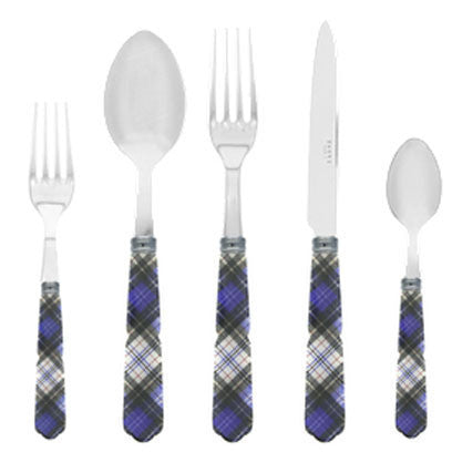 Sabre Kilt 5 Piece Place Setting | Blue - CITY LIFE CATALOG