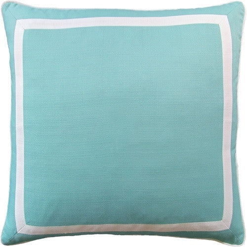 Aqua- Sunnyside Mitered Border (Indoor/Outdoor) - GDH | The decorators department Store