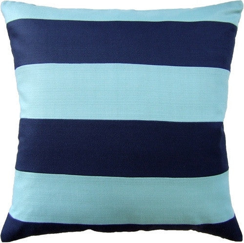 Aqua- Sunnyside Stripe (Indoor/Outdoor) - GDH | The decorators department Store