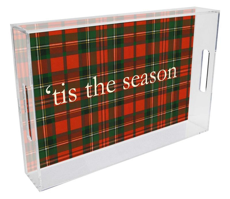 Red & Green Plaid Personalized Lucite Tray - GDH | The decorators department Store