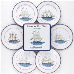 Mottahedeh American Ships Picnic Plates-Set of 6 - GDH | The decorators department Store