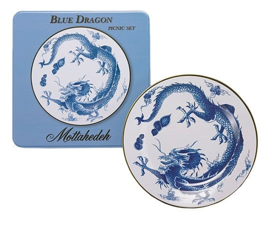 Mottahedeh Blue Dragon Picnic Plates-Set of 4 - GDH | The decorators department Store